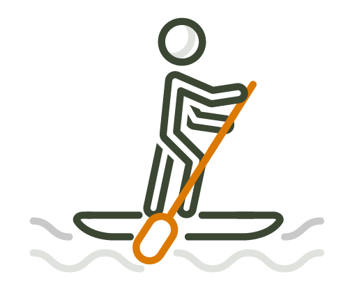 Paddleboarding for health and fitness